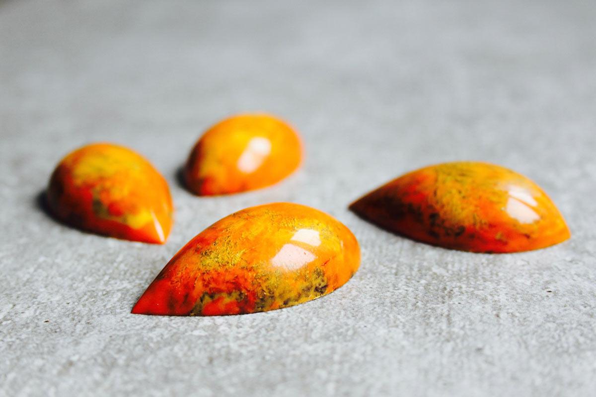Passionsfrucht-Karamell Praline